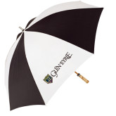 62 Inch Black/White Umbrella-Glen Eyrie - Flat