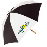 62 Inch Black/White Umbrella-Eagle Lake Camps