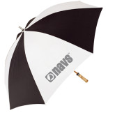 62 Inch Black/White Umbrella-NAVS