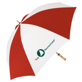 62 Inch Red/White Umbrella-The Navigators