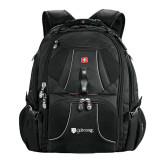 Wenger Swiss Army Mega Black Compu Backpack-Glen Eyrie - Flat
