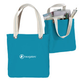 Allie Turquoise Canvas Tote-Navigators