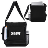 Impact Vertical Black Computer Messenger Bag-NAVS
