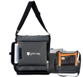 Impact Vertical Grey Computer Messenger Bag-Glen Eyrie - Flat