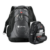 Wenger Swiss Army Tech Charcoal Compu Backpack-Glen Eyrie - Flat