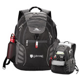 High Sierra Big Wig Black Compu Backpack-Glen Eyrie - Flat