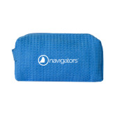 Small Aqua Waffle Cosmetic Bag-Navigators