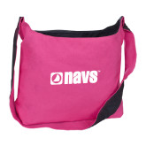 Cotton Canvas Tropical Pink/Charcoal Sling Bag-NAVS