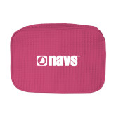 Large Hot Pink Waffle Cosmetic Bag-NAVS