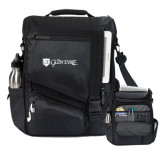 Momentum Black Computer Messenger Bag-Glen Eyrie - Flat