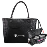 Sophia Checkpoint Friendly Black Compu Tote-Glen Eyrie - Flat