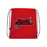Nylon Red Drawstring Backpack-Geaux Colonels-Sword