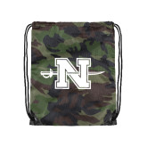 Nylon Camo Drawstring Backpack-Official Logo