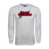 White Long Sleeve T Shirt-Geaux Colonels-Sword