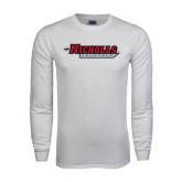 White Long Sleeve T Shirt-Nicholls Colonels