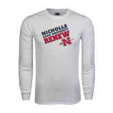 White Long Sleeve T Shirt-Renew Slanted