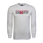 White Long Sleeve T Shirt-Renew Flat