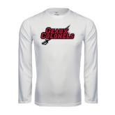Performance White Longsleeve Shirt-Geaux Colonels-Sword