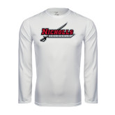 Performance White Longsleeve Shirt-Nicholls Colonels-Sword