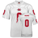 State Replica White Adult Football Jersey-Personalized