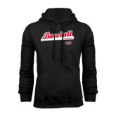 Black Fleece Hood-Baseball Script