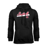Black Fleece Hood-Softball Script