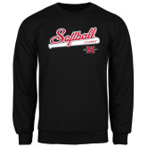 Black Fleece Crew-Softball Script