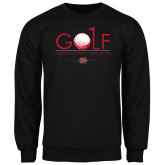 Black Fleece Crew-Golf w/ Ball and Flag