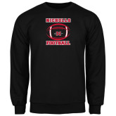 Black Fleece Crew-Nicholls Football Stacked w/ Ball