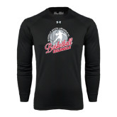 Under Armour Black Long Sleeve Tech Tee-Basketball w/ Ball and Figure