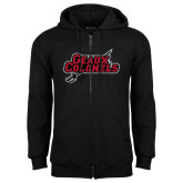 Black Fleece Full Zip Hood-Geaux Colonels-Sword