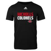 Adidas Black Logo T Shirt-Adidas Nicholls Colonels Logo