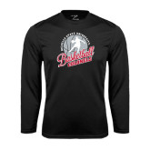 Syntrel Performance Black Longsleeve Shirt-Basketball w/ Ball and Figure