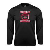 Syntrel Performance Black Longsleeve Shirt-Nicholls Football Stacked w/ Ball