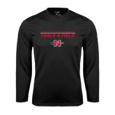 Syntrel Performance Black Longsleeve Shirt-Track & Field Stacked