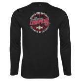 Performance Black Longsleeve Shirt-2018 Mens Basketball Champions