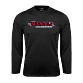 Performance Black Longsleeve Shirt-Nicholls Colonels