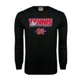 Black Long Sleeve TShirt-Tennis w/ Player