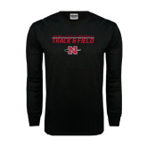 Black Long Sleeve TShirt-Track & Field Stacked