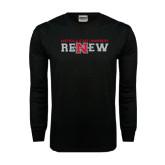 Black Long Sleeve TShirt-Renew Flat