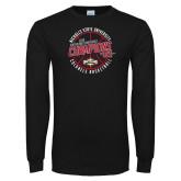 Black Long Sleeve T Shirt-2018 Mens Basketball Champions