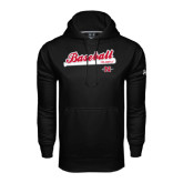 Under Armour Black Performance Sweats Team Hood-Baseball Script