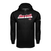 Under Armour Black Performance Sweats Team Hoodie-Baseball Script