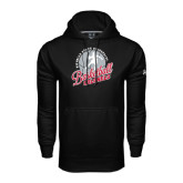Under Armour Black Performance Sweats Team Hoodie-Basketball w/ Ball and Figure