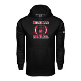Under Armour Black Performance Sweats Team Hoodie-Nicholls Football Stacked w/ Ball
