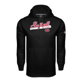 Under Armour Black Performance Sweats Team Hood-Softball Script