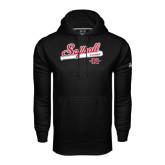 Under Armour Black Performance Sweats Team Hoodie-Softball Script