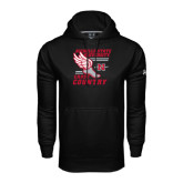 Under Armour Black Performance Sweats Team Hood-Cross Country Winged Shoe