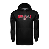 State Under Armour Black Performance Sweats Team Hood-Nicholls University