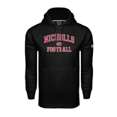 State Under Armour Black Performance Sweats Team Hood-Football
